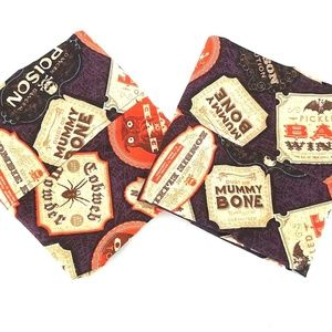 Halloween Vintage Potion Ingredients Pillow Cases